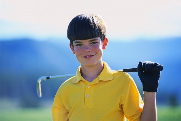 Portrait of Young Golfer ca. 1980s-1990s